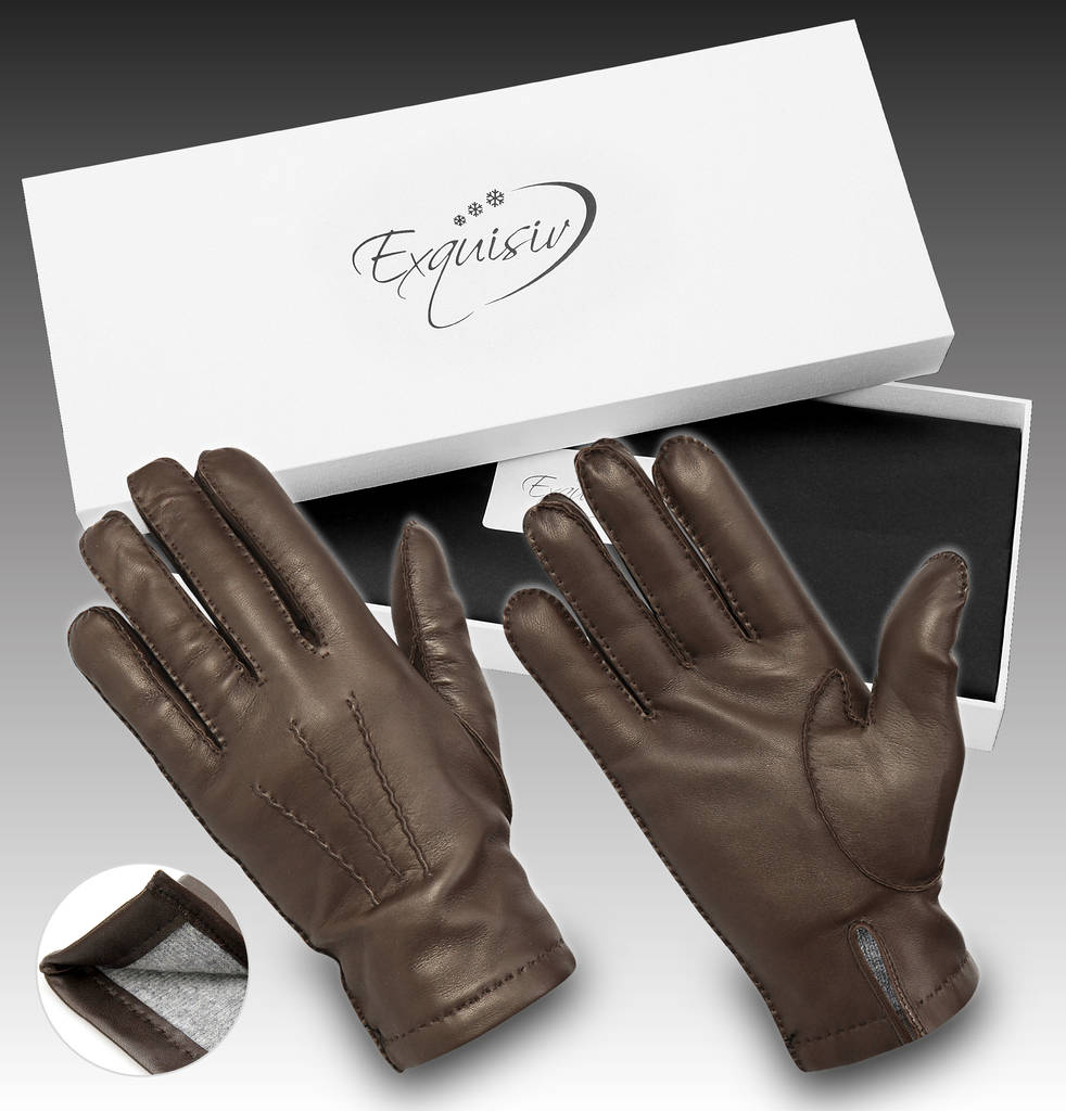 Leather gloves Brown